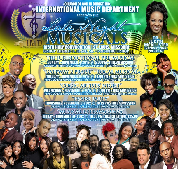 CHURCH OF GOD IN CHRIST'S 105TH HOLY CONVOCATION PRESENTS LATE NIGHT MUSICAL CELEBRATIONS