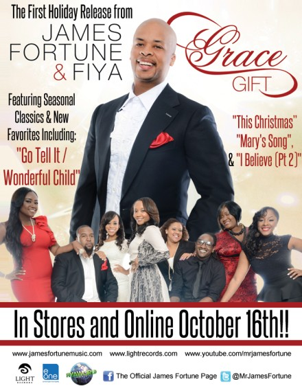"WIN AN AUTOGRAPHED COPY OF JAMES FORTUNE & FIYA'S NEW CHRISTMAS CD ""GRACE GIFT"" AND ENTER TO WIN A LIGHT RECORDS CD PRIZE PACK!"