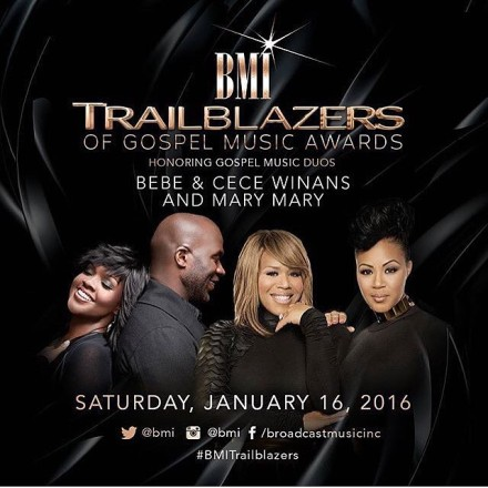 BMI HONORS BEBE & CECE WINANS & MARY MARY AT THE 2016 TRAILBLAZERS AWARD