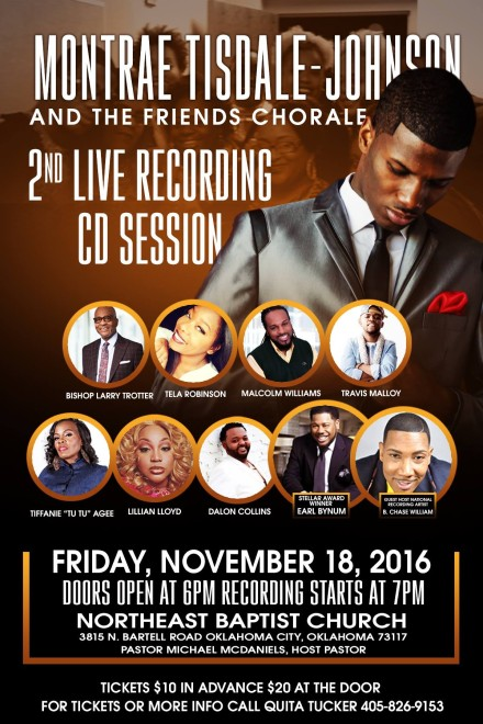 NEW ARTIST, MONTRAE TISDALE-JOHNSON, PREPS FOR HIS SECOND LIVE RECORDING THIS NOVEMBER!