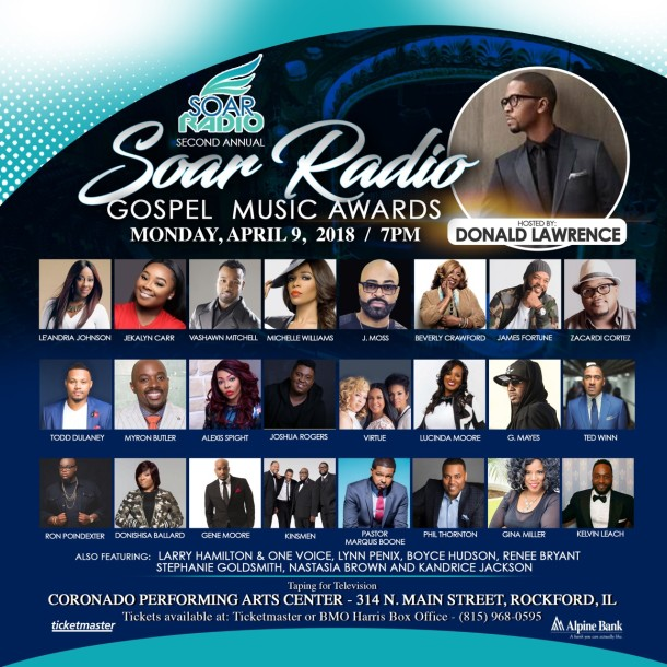 MICHELLE WILLIAMS & DONALD LAWRENCE TAPPED TO HOST THE 2ND ANNUAL SOAR RADIO AWARDS!
